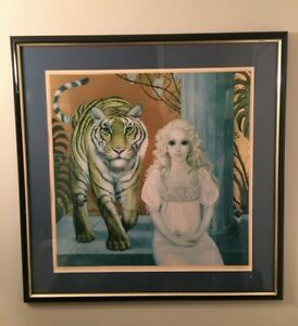 "Original signed Margaret Keane limited edition lithograph ""Princess of the Dawn"""