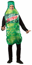 Mountain Dew Get Real Bottle Adult Costume Halloween Dress Up Over Sized Tunic