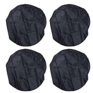 "Waterproof Tire Covers Set Of 4 Wheel&Tyre RV Trailer Camper Sun Protector 32"""