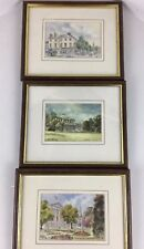 LOT (3) Watercolor Paintings ENGLISH ARCHITECTURE Buildings LOQUINS GALLERY