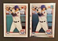 2020 Bowman Chrome/BASE Sam Huff #BCP-33 1st Bowman Rookie CARD Texas Rangers