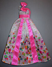 Barbie Pink & White Lollipop Gown Fits: Silkstone Only