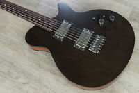 Porter Guitars Les Bois Custom Electric Guitar Roasted Neck Satin Trans Black