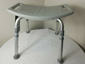 Drive Medical Bath Tub Shower Chair Adujtable Height Bench Stool Seat