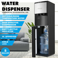 Bottom Loading Water Cooler Dispenser Stainless Steel 3-Temperatures Safety Lock