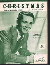 C H R I S T M A S 1949 Perry Como Sheet Music