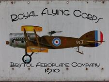 Royal Flying Corps Airplane Jet Fly Flight Aviator Metal Sign