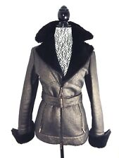 GIANFRANCO FERRE BROWN COPPER SHEARLING COAT/ JACKET MADE IN ITALY SZ 42 /SMALL