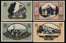 Bad Hall (OÖ) -Gemeinde- 20, 30, 50 und 80 Heller farbiger Druck (JP 76 II)