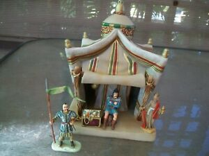 LARGE TENT BY FONTANINI WITH TWO 70MM DIEDHOFF FOOT MONGOLS KUBLAI KHAN