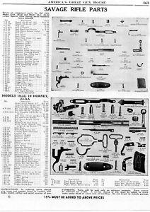 1948 Print Ad of Savage Model 23B 23C 19-33 19 Hornet & 23-AA Rifle Parts List