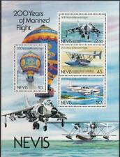 TR62 - NEVIS 200 YEARS OF MANNED FLIGHT BALLOON/AIRPLANE - S/S MNH