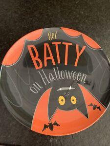 "Pottery Barn Kids ""Get Batty On Halloween"" Melamine Plate"