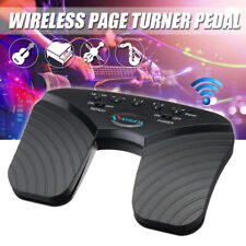 bluetooth Page Turner Music Pedal Wireless For Tablets PC Rechargeable Black !