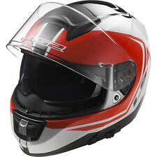 Full Face Motorcycle Helmet LS2 Vector Wake Ff397 White-black-red Size S