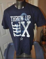 91f9da649 NFL Dallas Cowboys Throw up the X Dez Bryant Navy Blue T-Shirt Size Large