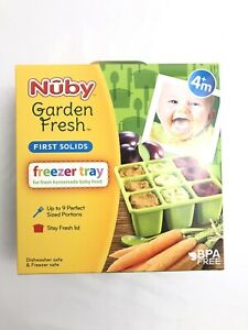 Nuby Garden Fresh Freezer Tray with Lid, Colors May Vary, 9-1 oz.Compartments