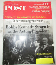 The Saturday Evening Post March 9,1968 Robert Kennedy Sworn in Acting President