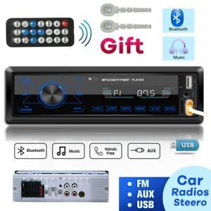 1DIN Autoradio Bluetooth Freisprech USB SD Aux in FM 7 Farben MP3 Fernbedienung