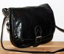 Jones The Bootmaker Leather Boho Black Satchel/Messenger/Shoulder Bag/Purse