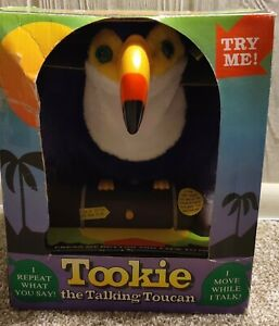 Vintage 1993 Gemmy TOOKIE Talking Toucan Bird Repeats What You Say New in Box!