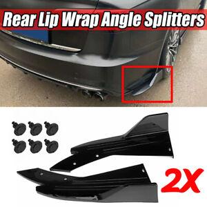 Fit For Mitsubishi Eclipse Reaer Bumper Lip Splitter Spoiler Canard Apron Black