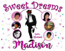 "MICHAEL JACKSON PILLOWCASE ""SWEET DREAMS""  Personalized Any NAME Super Soft"