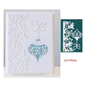 Snowflake Lace Christmas Bell Metal Cutting Dies Scrapbooking Paper Card Making