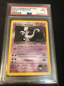 Pokemon Card - 2000 #14 Rocket's Mewtwo Holo PSA 9 Mint - Gym Challenge