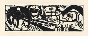 Heinrich Campendonck original woodcut - Deutsche Graphiker der Gegenwart - 1920