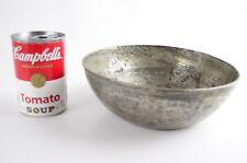 Antique Primitive Tin over Copper Bowl Islamic Ottoman