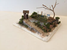 CEMETARY DIORAMA    Scratch Built by Seller HO