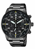 Citizen Eco-Drive Men's CA0695-50E Chronograph Black Dial Band 44mm Watch