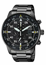 Citizen Eco-Drive Men's CA0695-50E Chronograph Black Titanium Band 44mm Watch