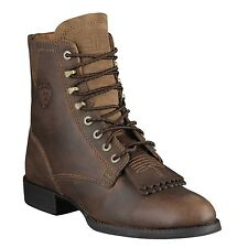 Ariat Western BOOTS Womens Heritage Lacer II 6 B Roper Brown 10002147
