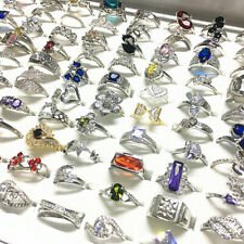 30pcs Women's Fashion Jewelry Rings Zircon Rhinestone Wedding Bands Wholesale