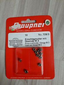 Graupner 728/3  Einschlagmutter M3 10Stk OVP neu