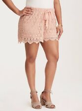 Torrid Crochet Pull-On Shorts Pink 4X 26 4 #41149