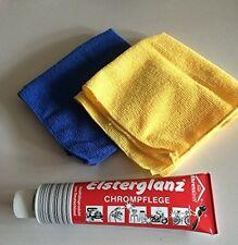 Elsterglanz Chrompflege Poliermittel Polierpaste 150 ml u. 2 Microfasertücher