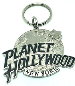 Planet Hollywood New York Key Chain Silver Metal Large Vintage 1990s