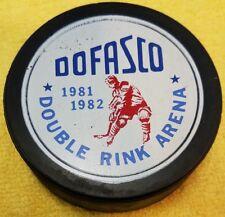 1981-82 DOFASCO DOUBLE RINK ARENA JR. HOCKEY VINTAGE VICEROY CANADA PUCK  HOLE!