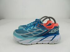 Hoka One One Clifton 3 Blue Coral Running Athletic Shoes Womens Size 8.5
