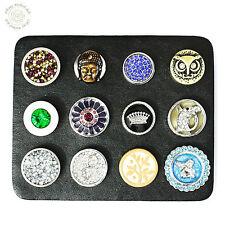 Leder Pad Aufbewahrung Präsentation für 12 Buttons + 12 Druckknöpfe als SPAR-SET