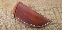 JT Custom Leather Sheath SAP Knife Making Blade Blank Light Brown MEDIUM WIDE