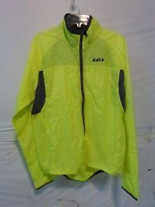 Louis Garneau Blink RTR Cycling Jacket  Men's Medium Bright Yellow Retail $110