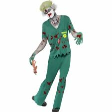 Halloween The Walking Dead Zombie Doctor Paramedic Costume with Top, Trousers, M