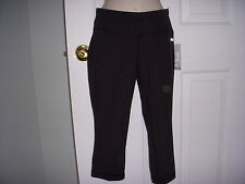 NWT Women's Reebok Slim Fit Capri/ Crop Training Pants BLACK Size XS