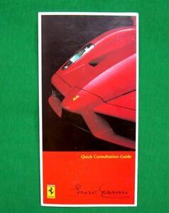 Enzo Ferrari - RARE Owners Handbook Supplement - 2005 - UK English Text