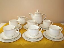 M&S/St. MICHAEL LUMIERE GOLD TEA/COFFEE SET for 6, usage marks on saucers