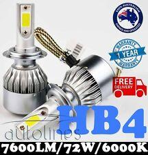 HB4 9006 72W 7600LM LED White 6000k Halogen Car Headlight Xenon Globe Bulb HID